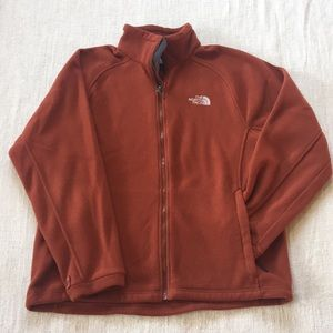 Rust North Face Fleece Jacket